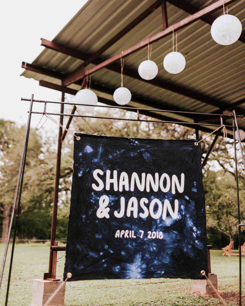 shannon jason wedding sign