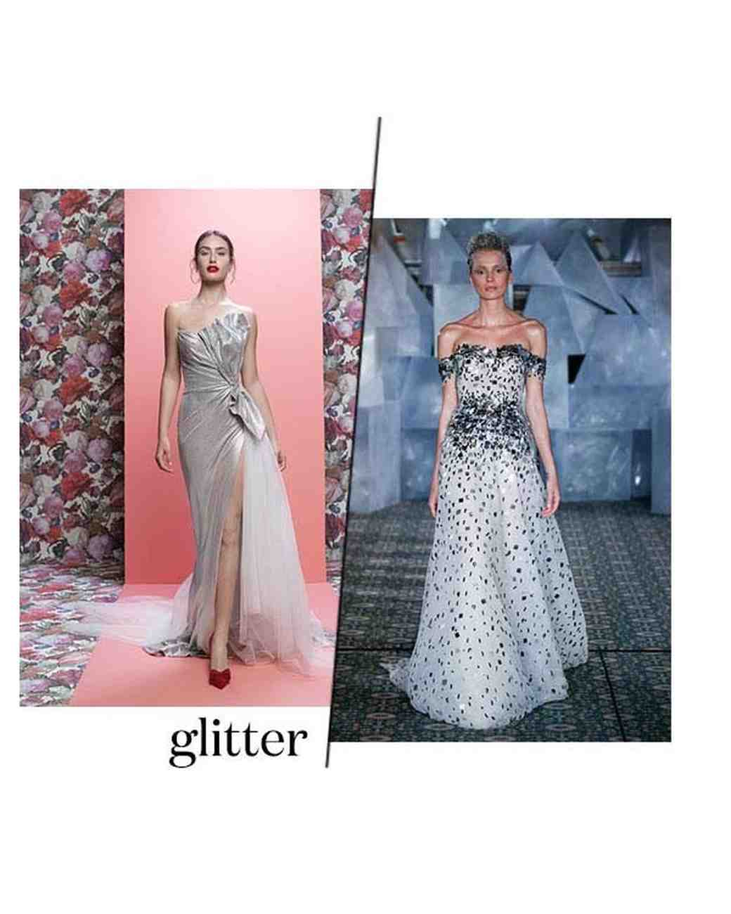 Spring 2019 Bridal Fashion Week Glitter Trend