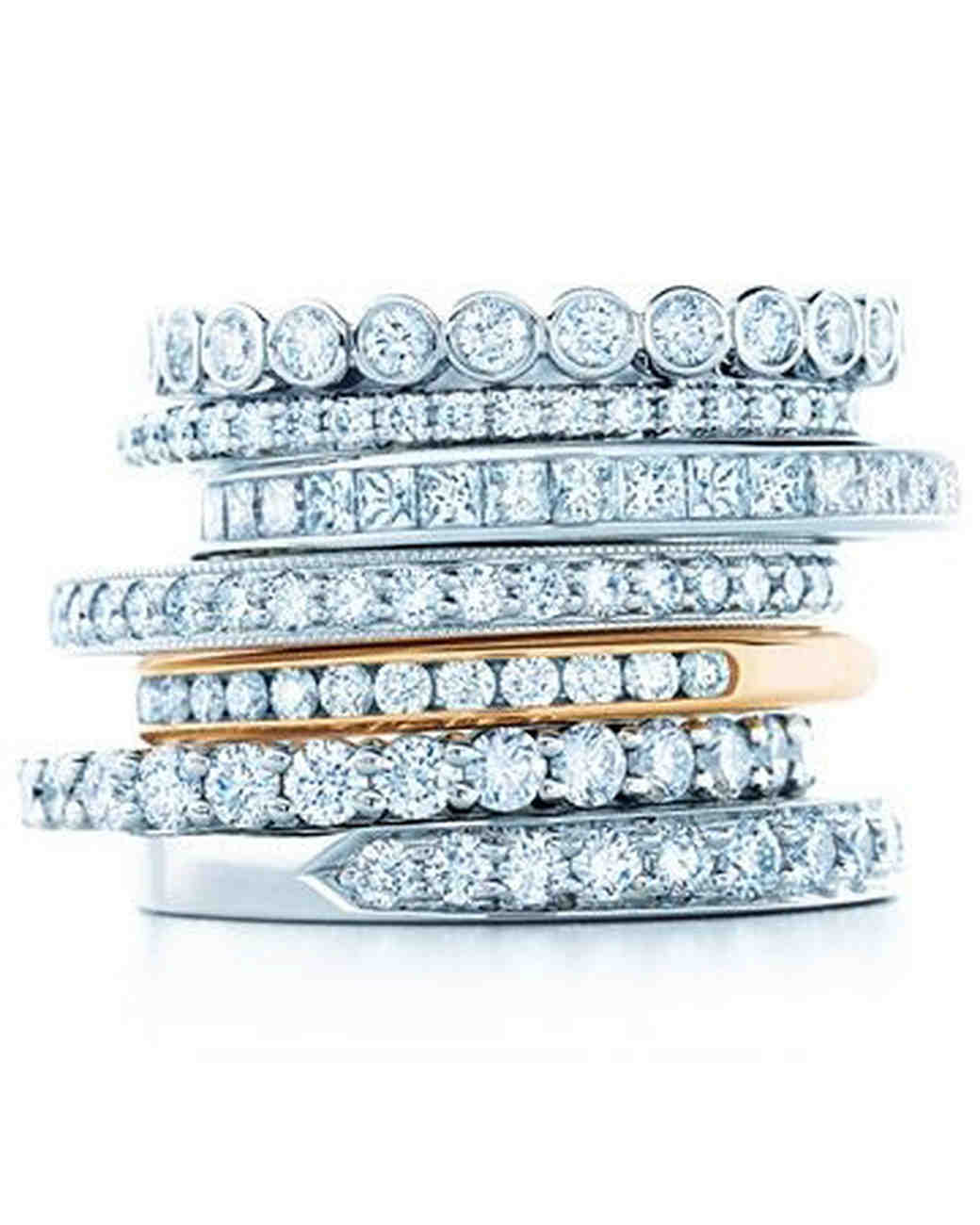 Tiffany & Co. Diamond Stackable Wedding Rings