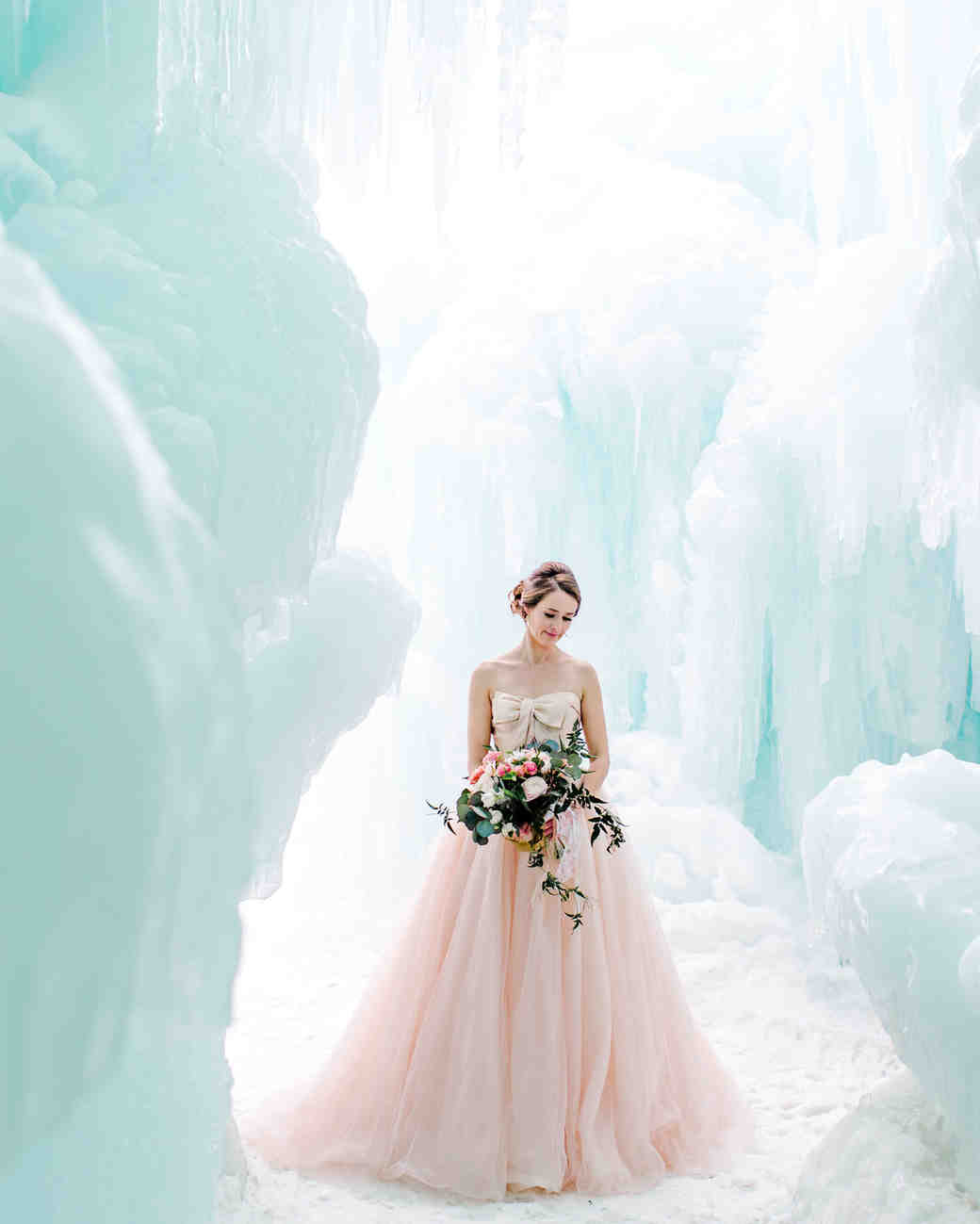 icy wedding photo