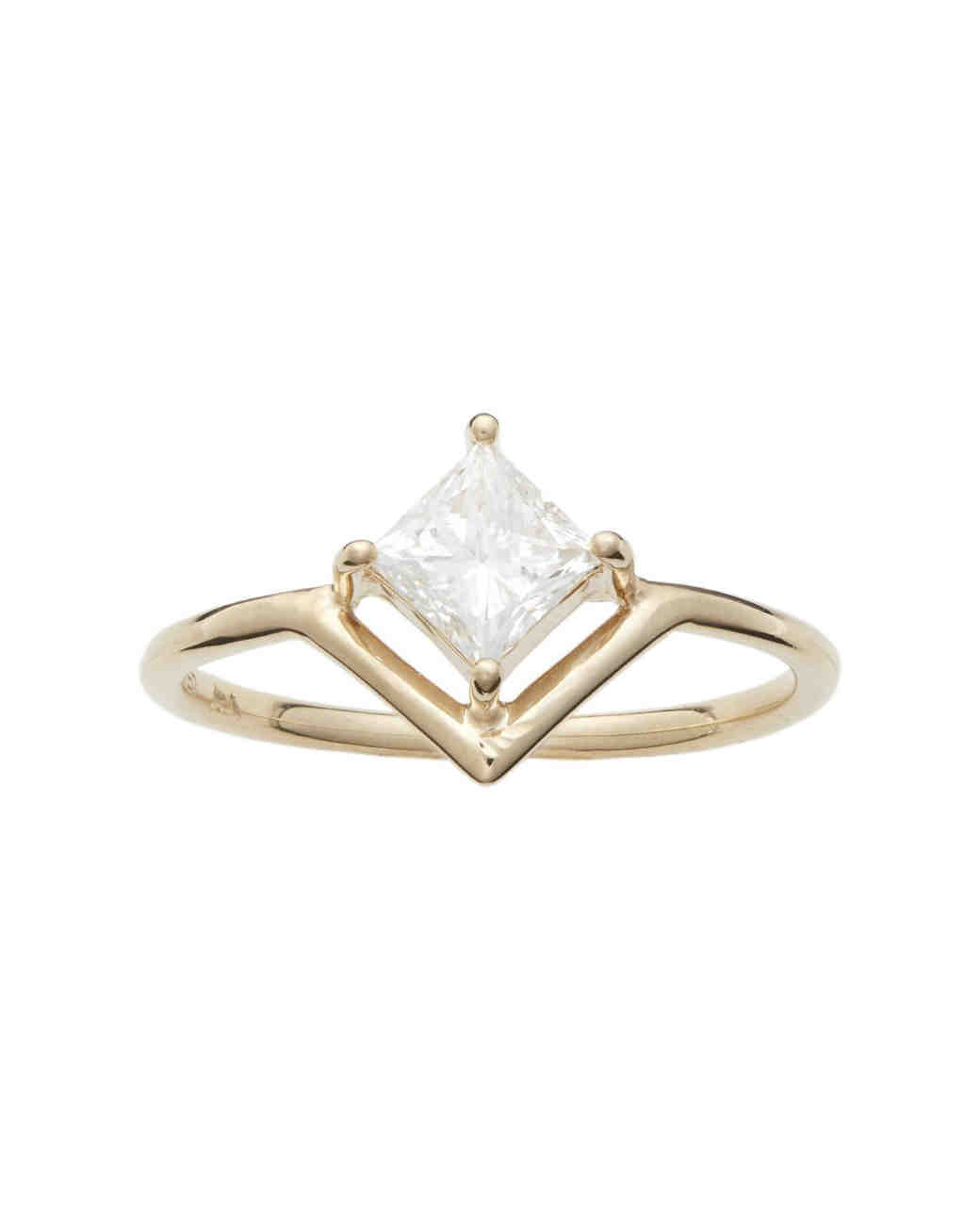 Nestled Princess-Cut Diamond Ring