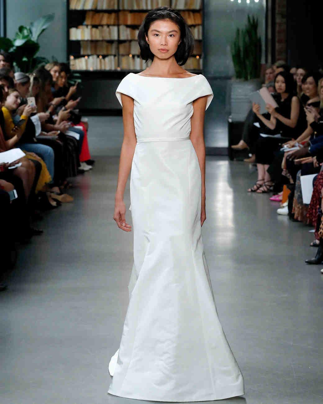 amsale fall 2019 mermaid with belt wedding dress