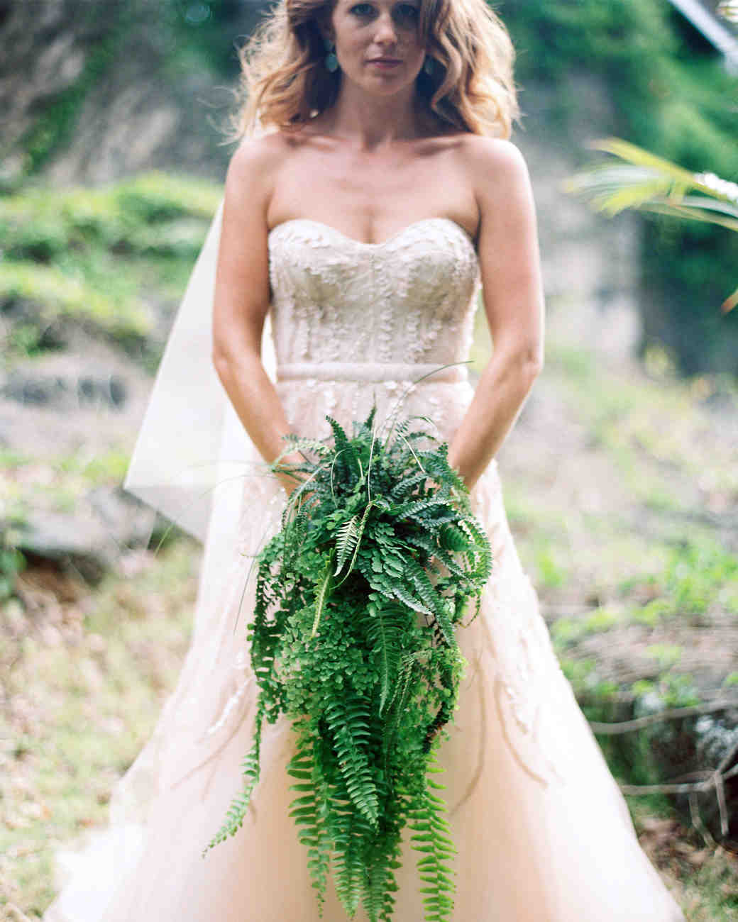 fern wedding bouquet