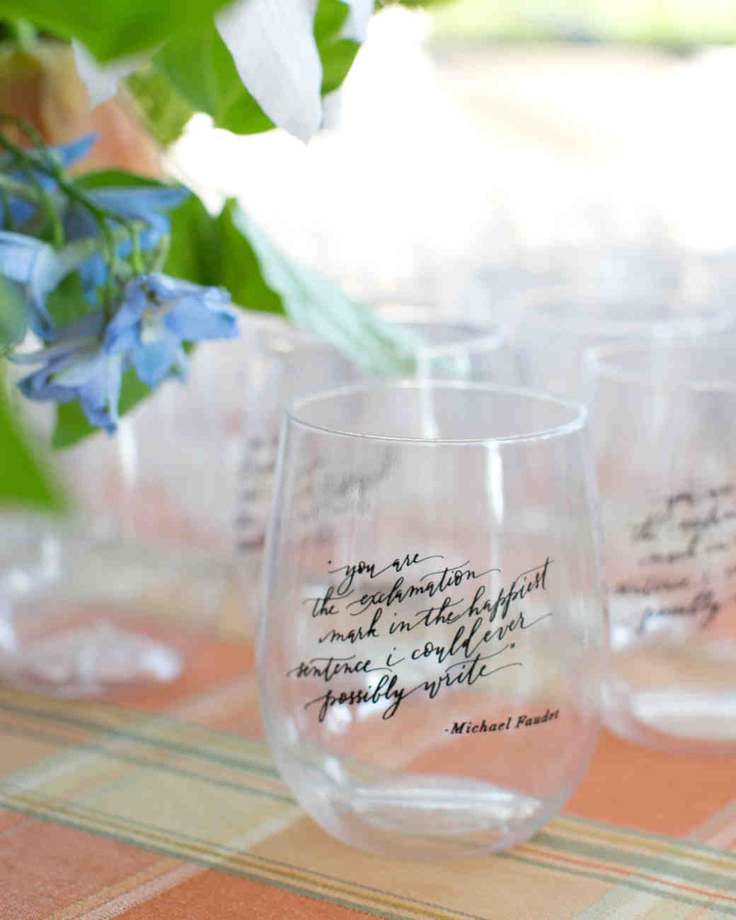 brunch cups with quote