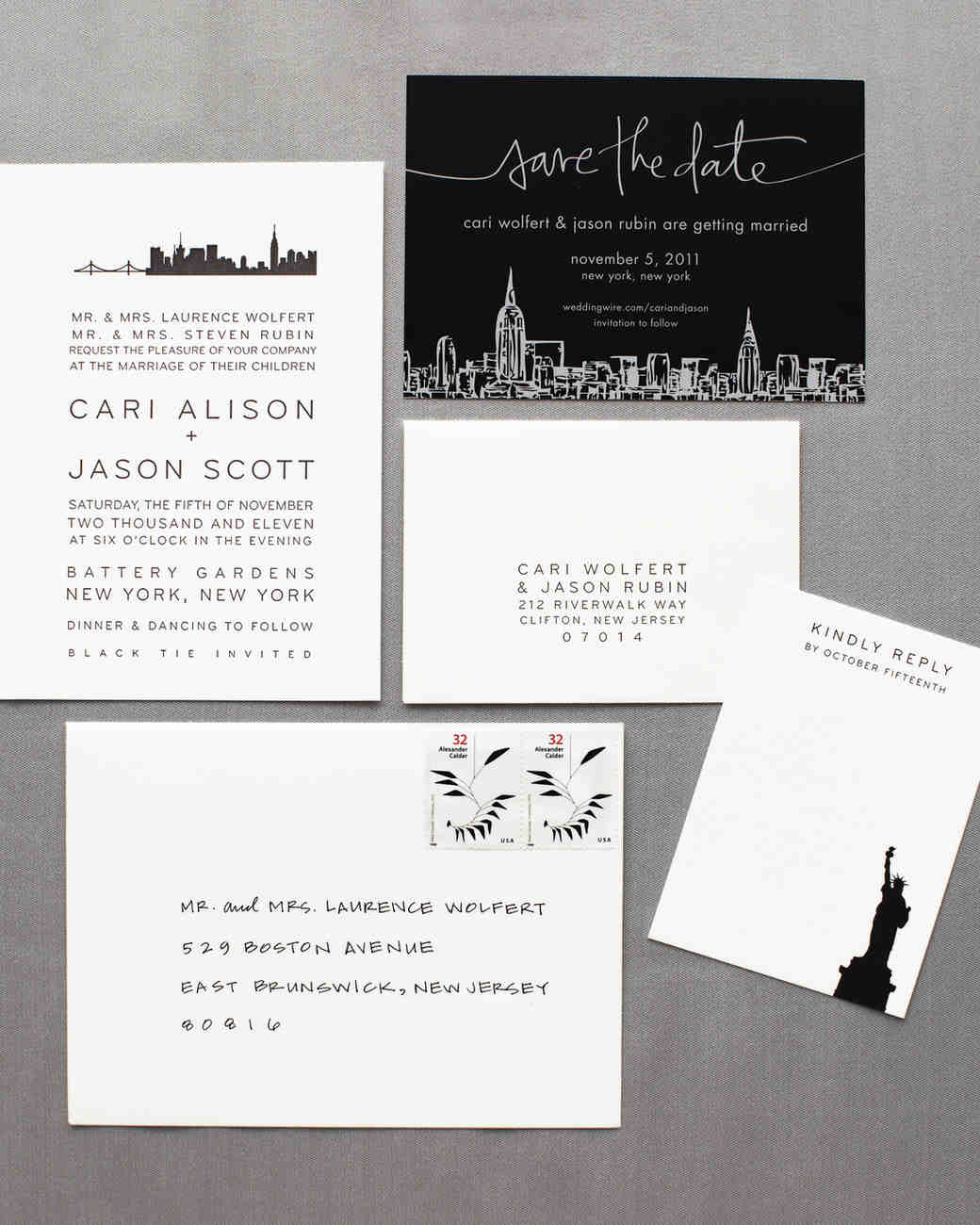 18 Classic SavetheDates Martha Stewart Weddings