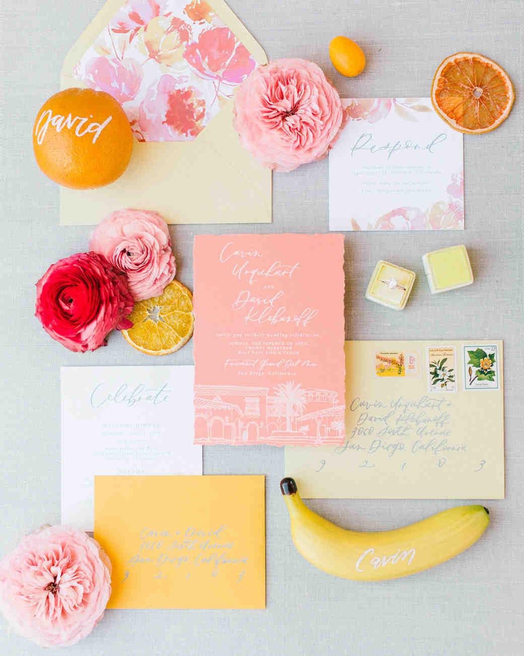 cavin david wedding floral stationery suite invites