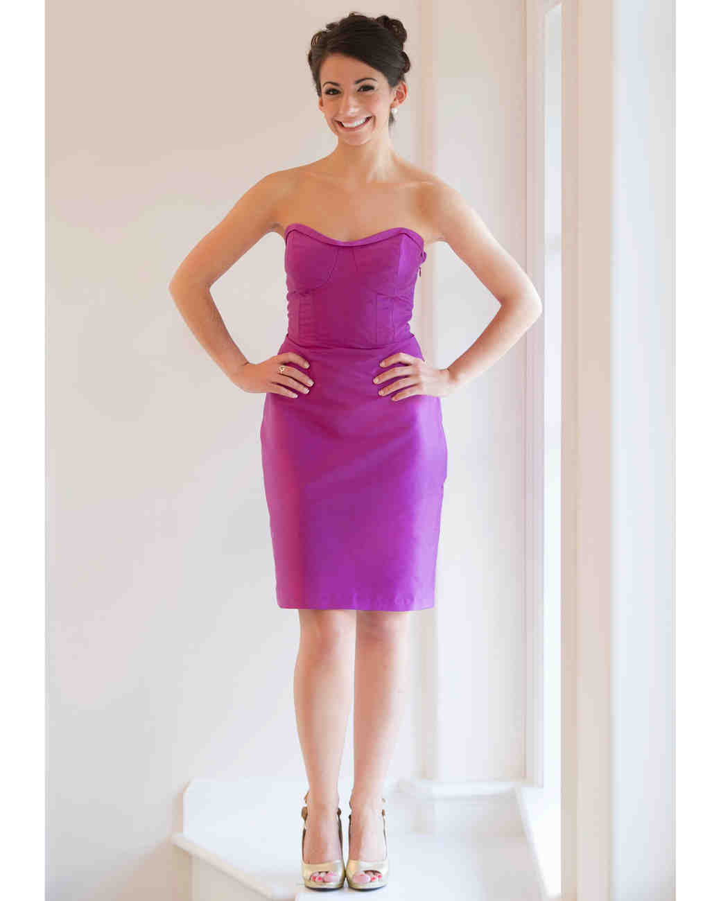 Coren moore fall 2013 bridesmaid collection martha stewart weddings short purple bridesmaid dress ombrellifo Image collections