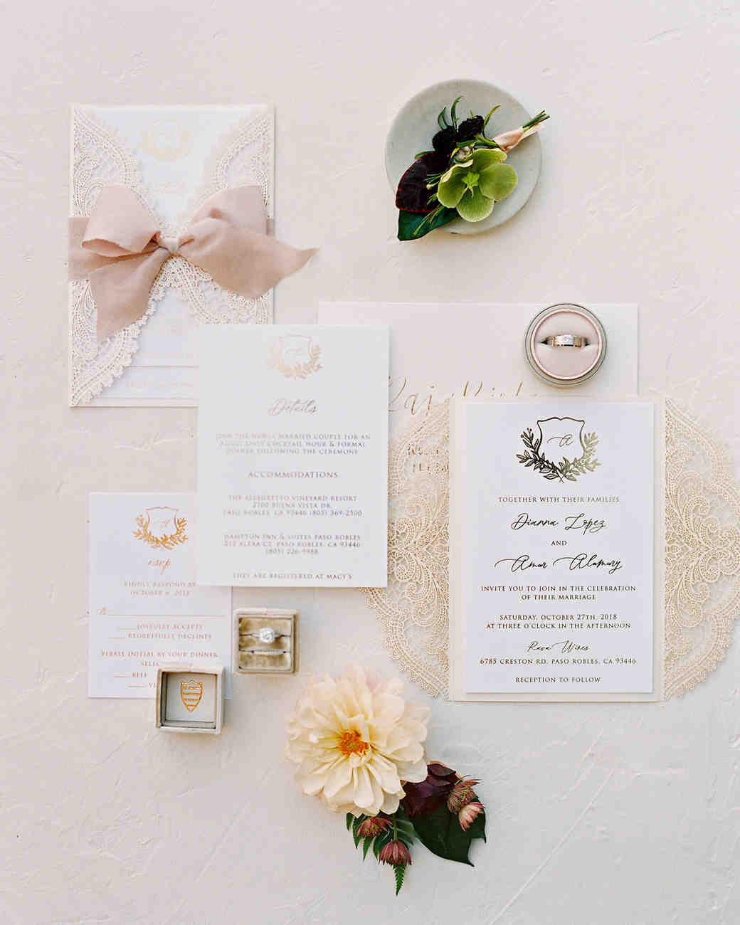 dianna amar wedding invites