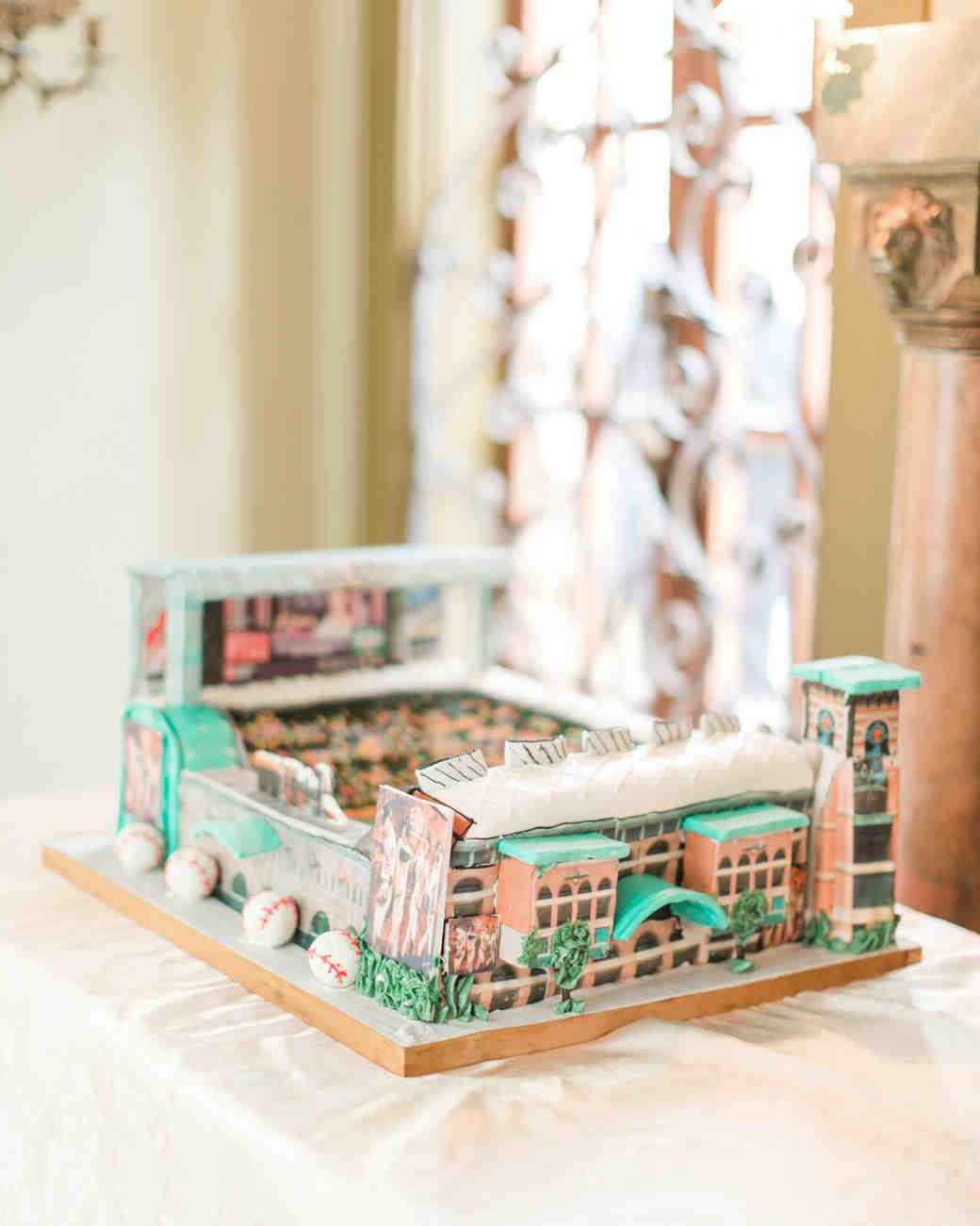 stadium grooms cake