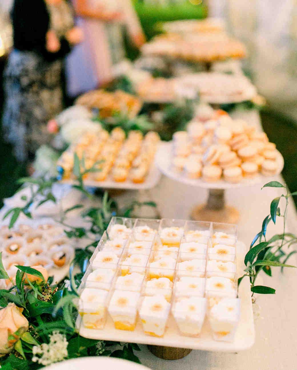 lauren josh wedding dessert table