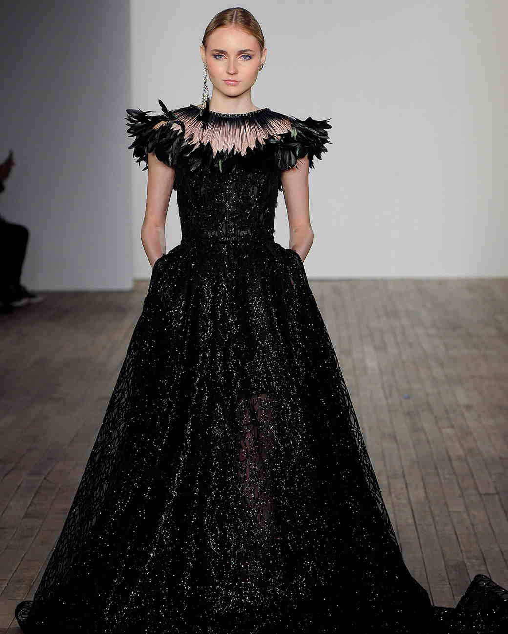 ba31a6e3d08 Chic Black Wedding Dress for the Edgy Bride
