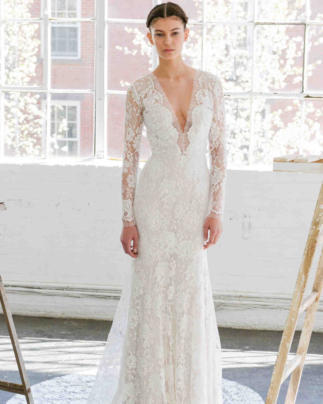 Lela Rose All Over Lace Mermaid Gown