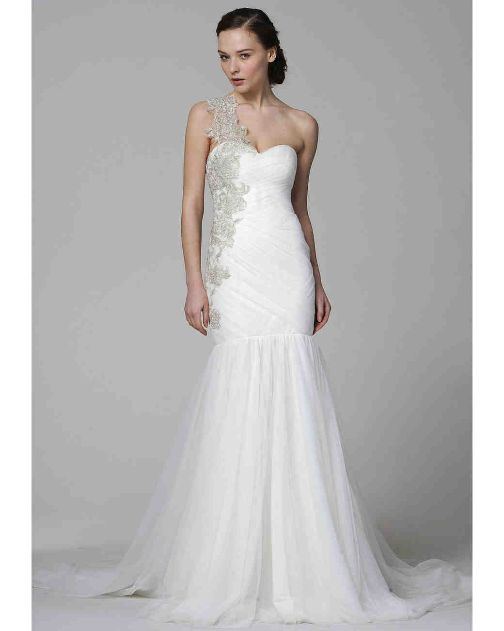 One Shoulder Wedding Dresses Spring 2013 Bridal Fashion Week
