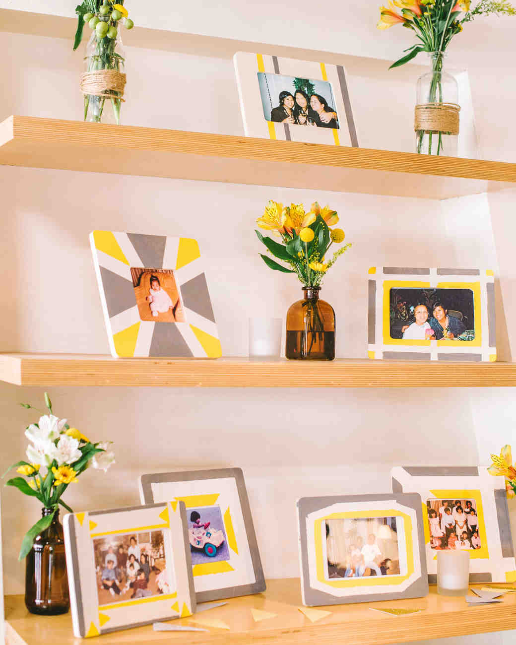 30 Creative Ways To Display Photos At Your Wedding Martha Weddings