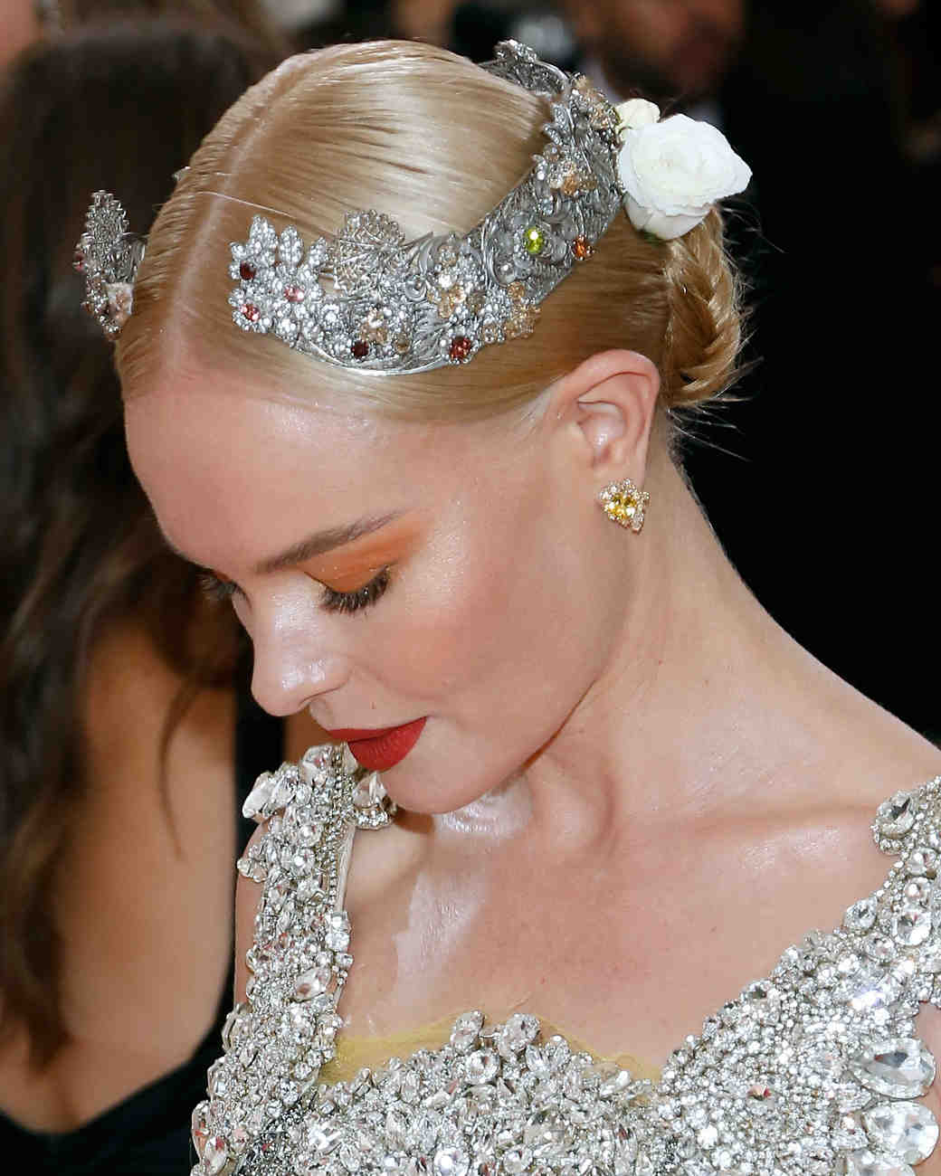 Red Carpet Hairstyles To Steal From Celebrities Martha Stewart Weddings