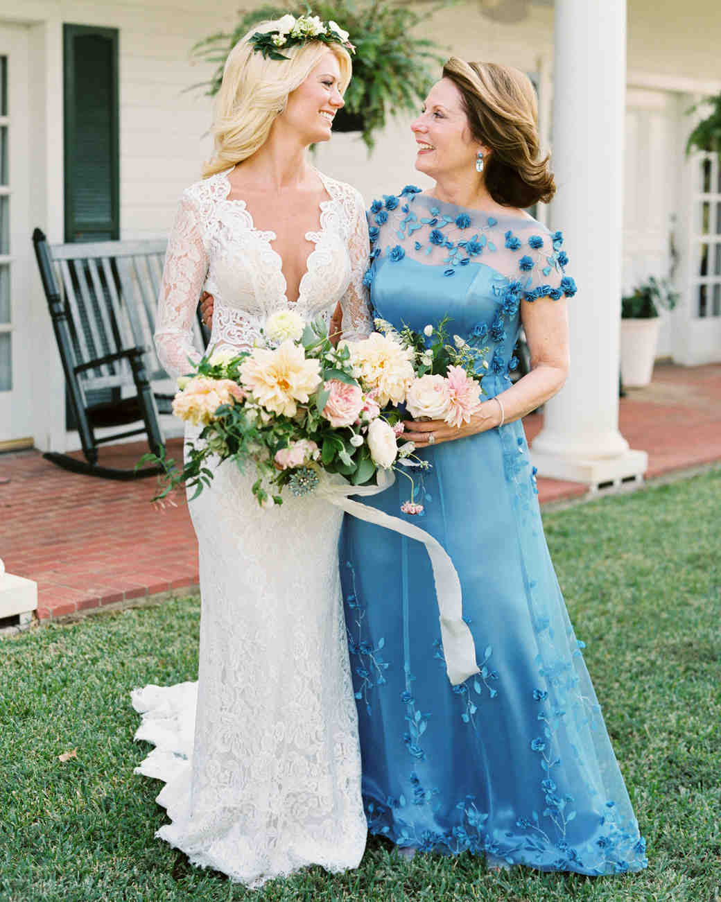 Blue Mother Of The Bride Dress