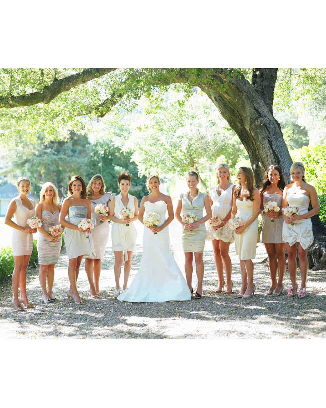 modern wedding bridal party color palette