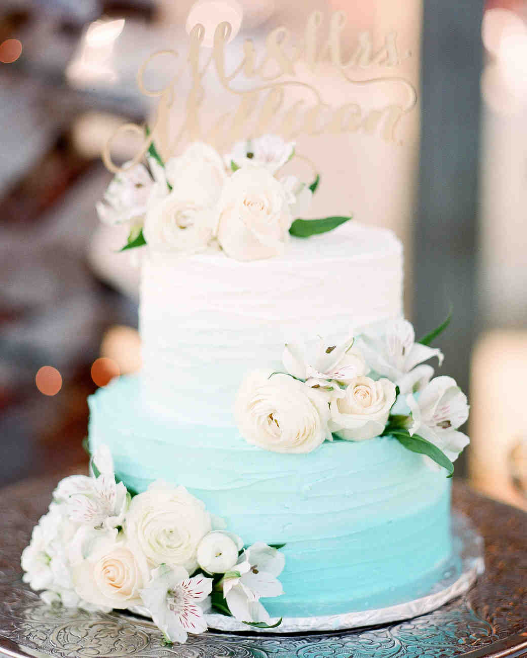 The Prettiest Ombré Wedding Cakes for Couples Who Love Color ...