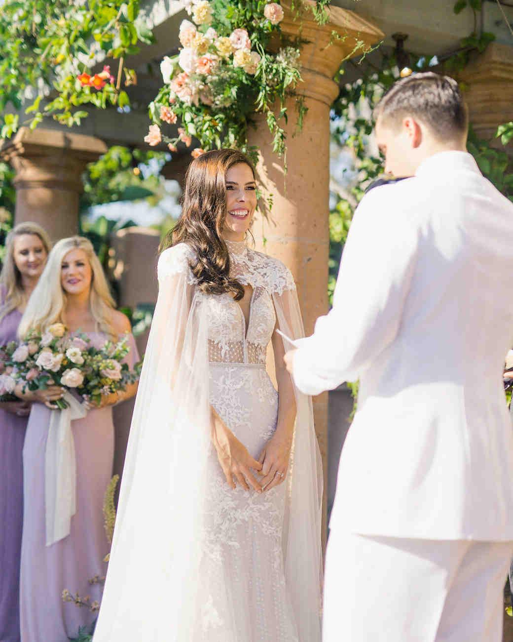 paige zack wedding ceremony bride and groom