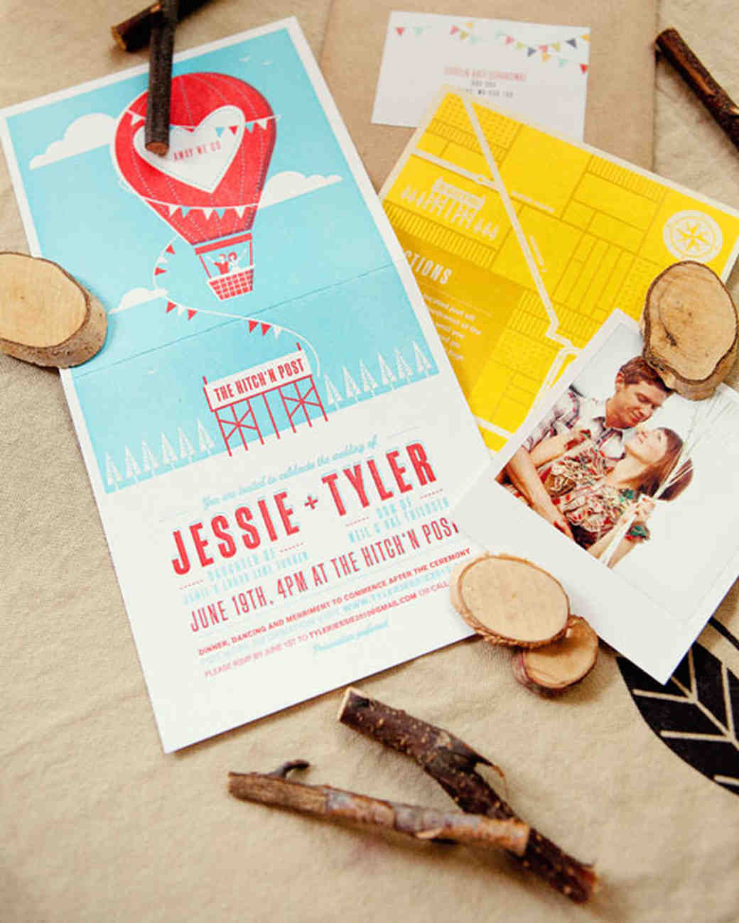 playful wedding invitation