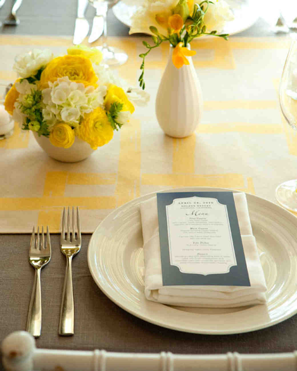 Affordable wedding centerpieces that still look elevated martha yellow wedding centerpieces junglespirit Choice Image