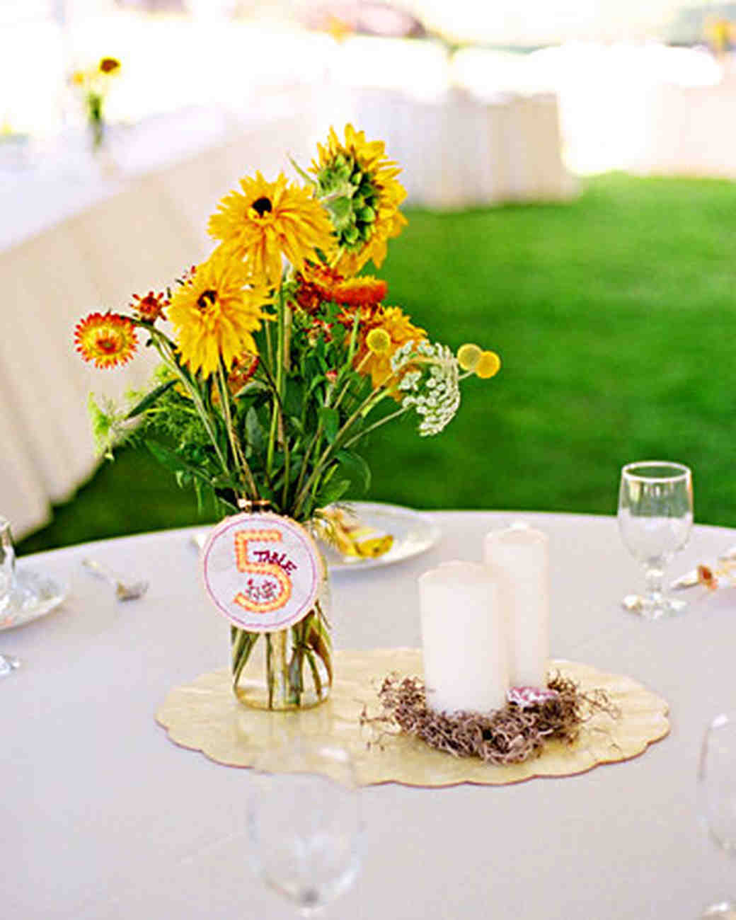 Yellow wedding centerpieces martha stewart weddings