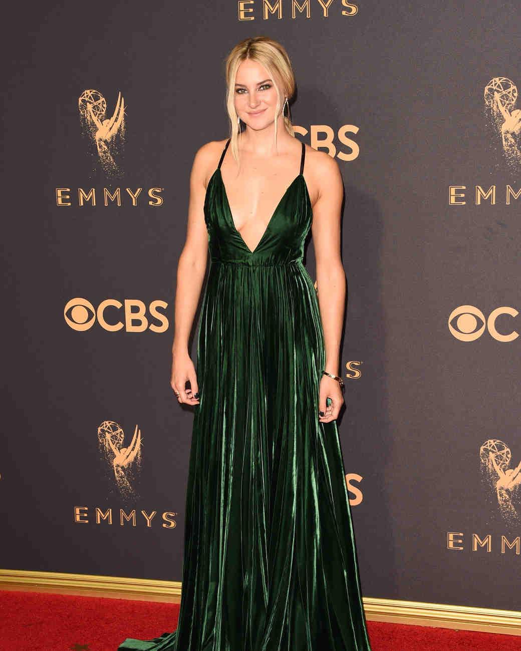 Shailene Woodley Emmys Red Carpet 2017
