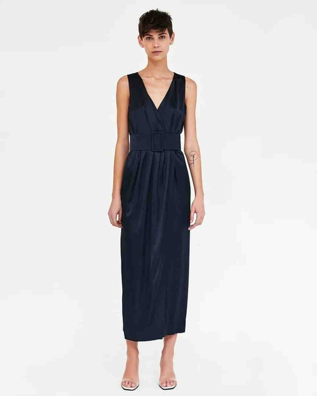 Sleeveless Zara Dress with Belt for Mother of the Bride