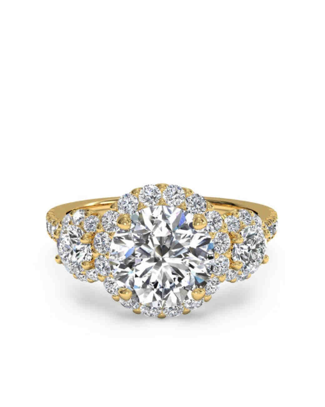 round three diamond engagement ring