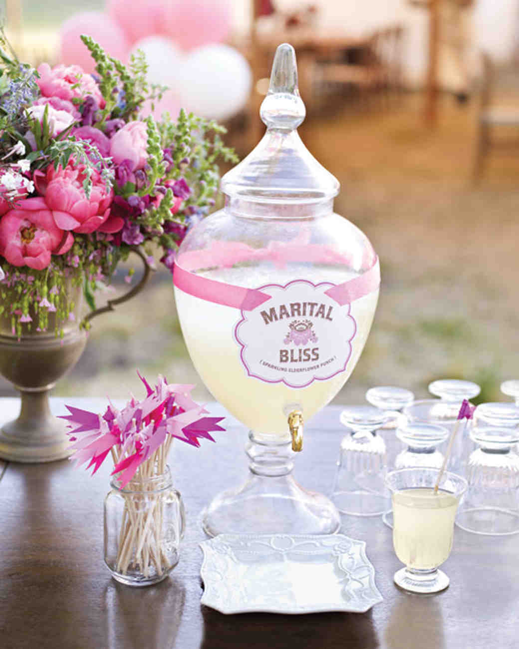 Marital Bliss Cocktail Recipe And Drink Label How To Recipe | Martha  Stewart Weddings