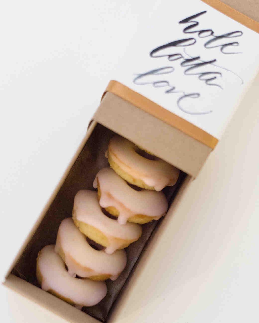 wedding donuts rebecca yale box