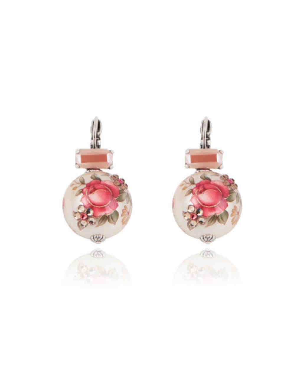 wedding earrings gas bijoux roses