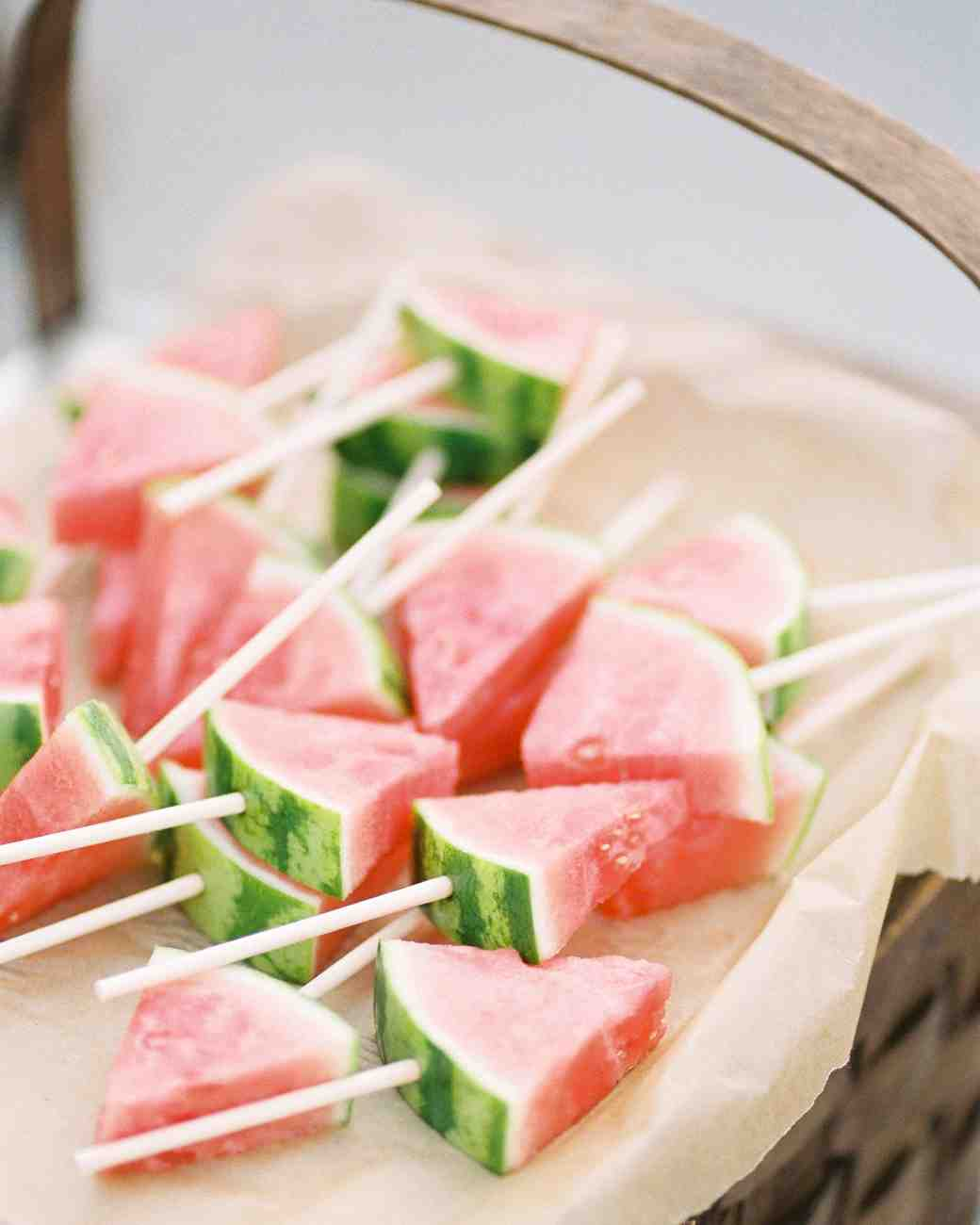 watermelon on sticks