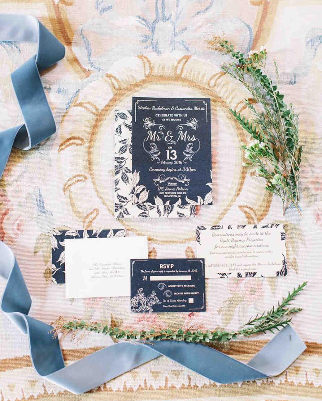 stationery suite winter wedding