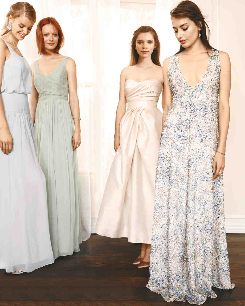 4 chic ways to mix and match your bridesmaid dresses martha 4 chic ways to mix and match your bridesmaid dresses martha stewart weddings ombrellifo Choice Image