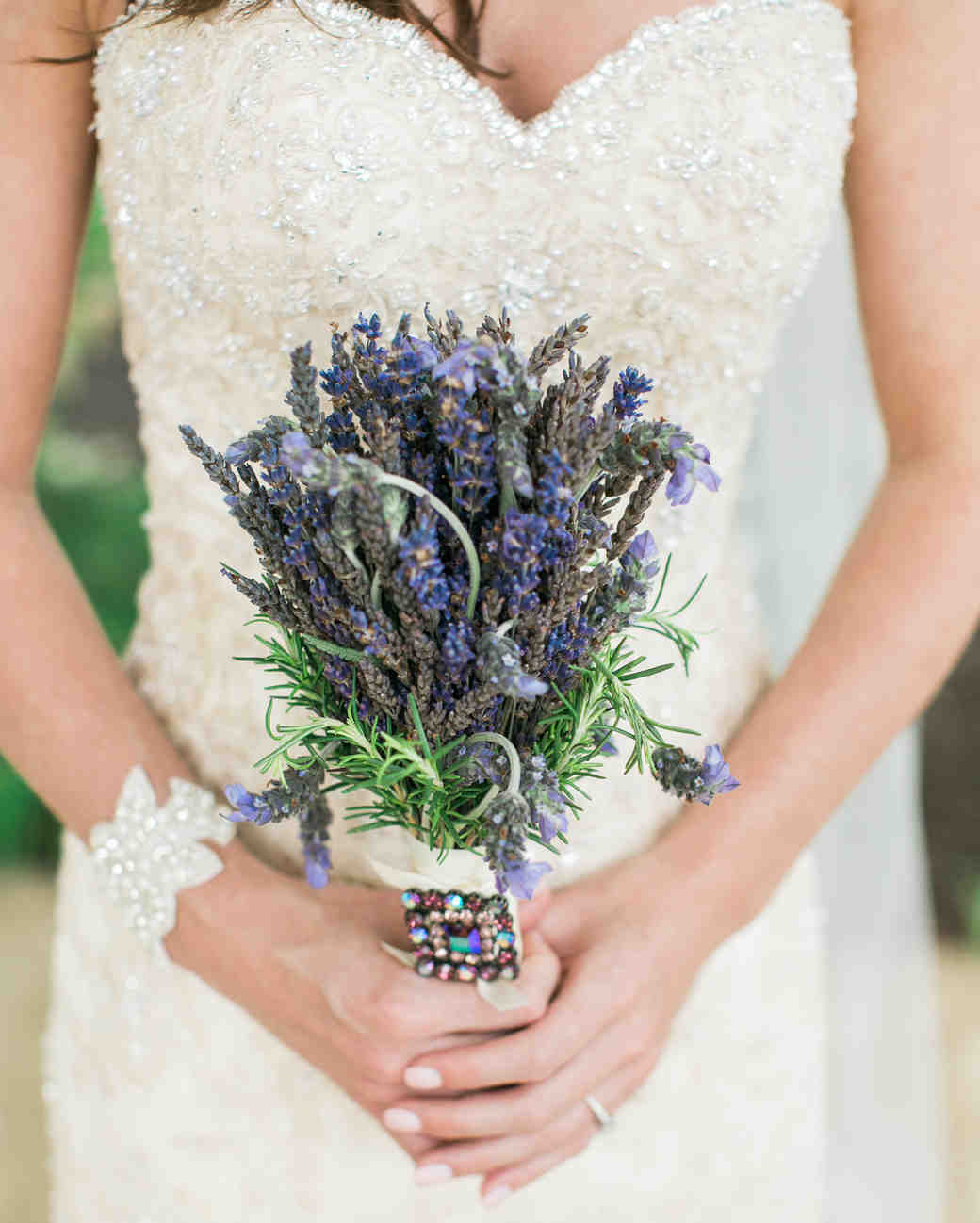 Dried and Fresh Lavender Bouquet