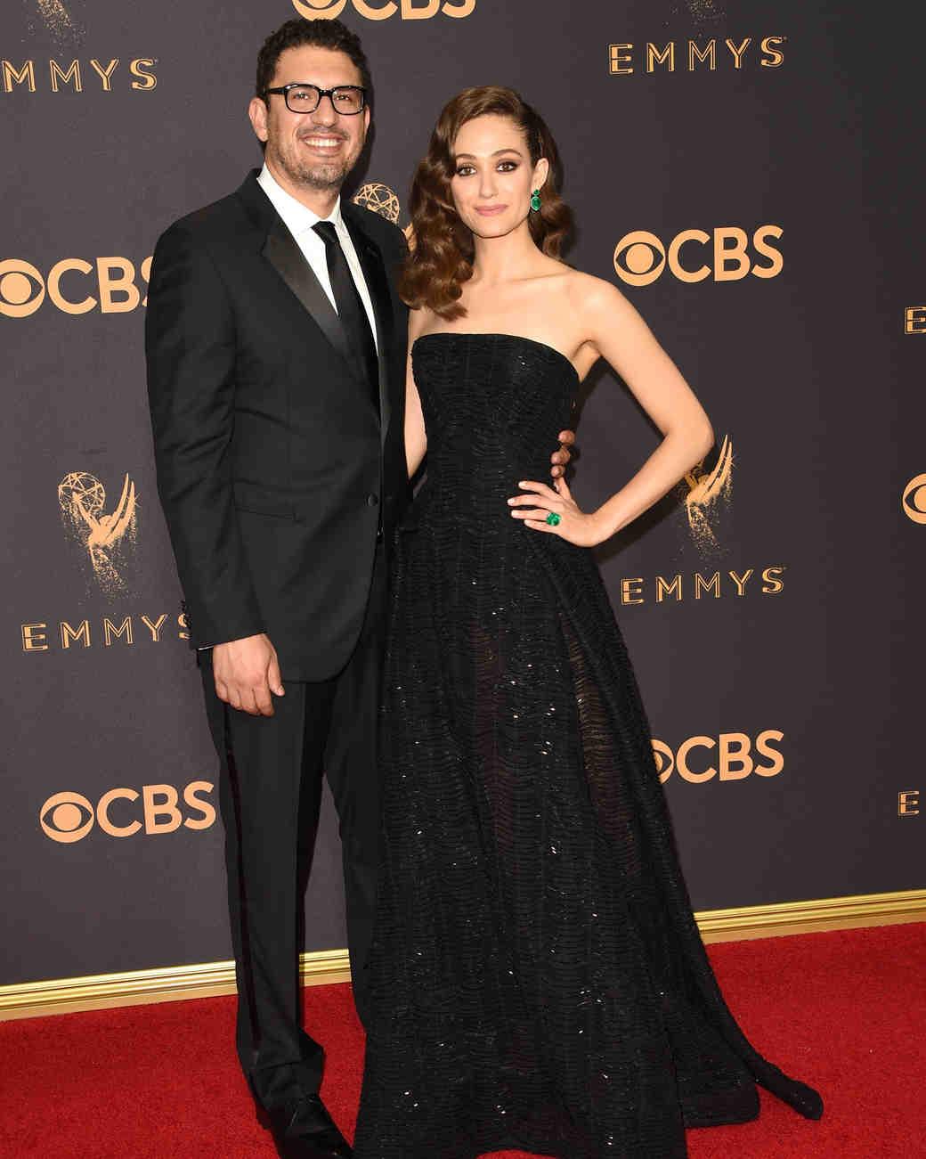 Emmy Rossum Sam Esmail Emmys 2017