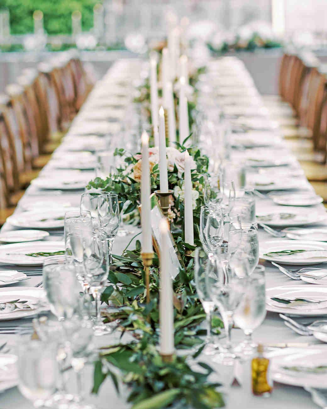 erika evan wedding reception table