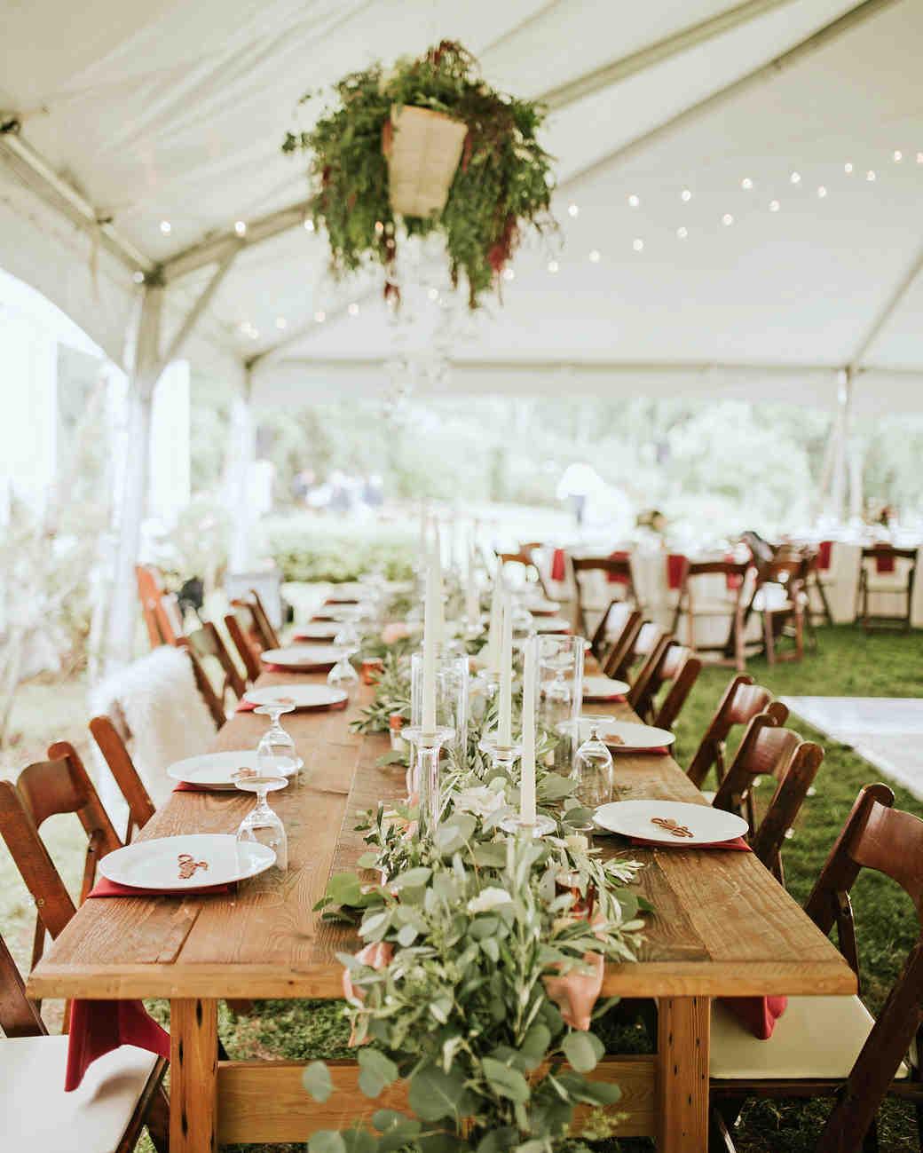 ferbie rob boho wedding reception table settings