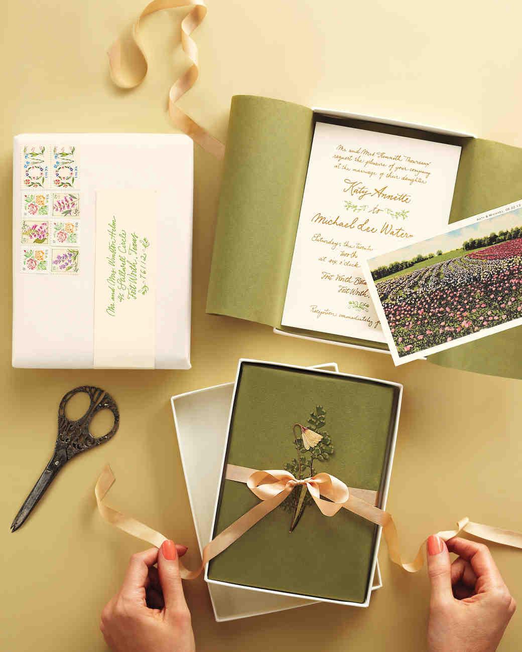 Unique Wedding Invitations Martha Stewart Weddings