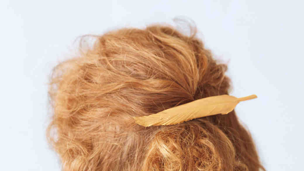 Feather Hair Barette