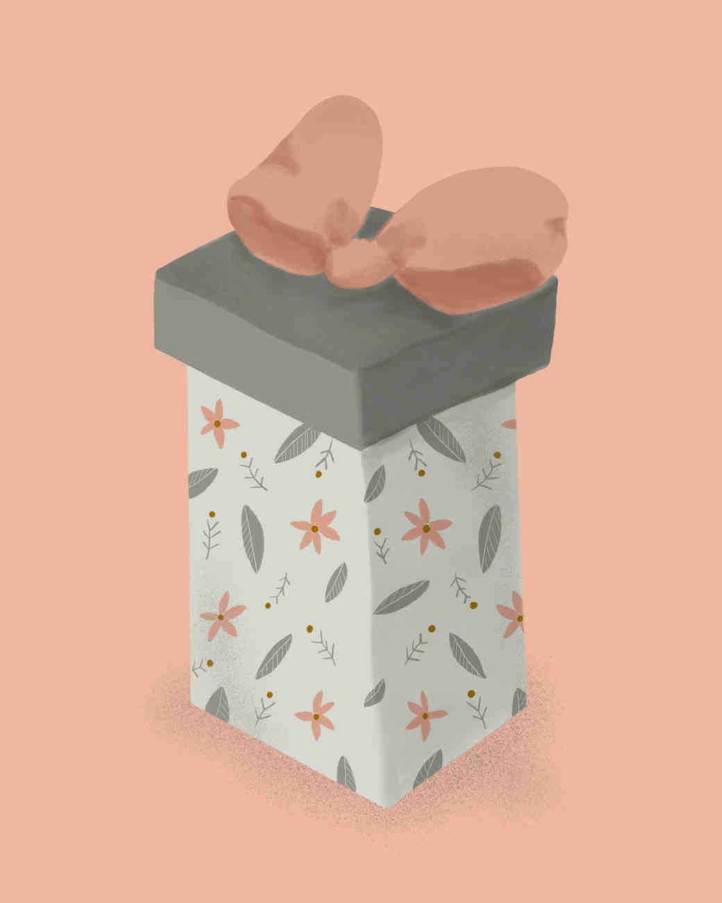Flower Girl Gift Guide, Illustrated Gift Box