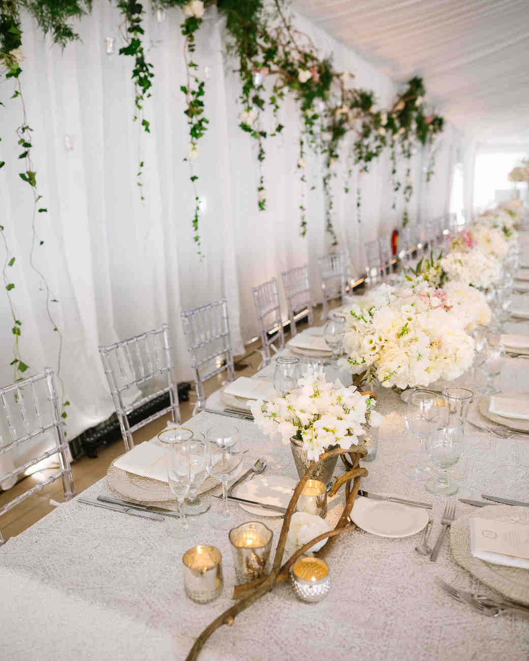 head table ideas clear chairs long wood accents