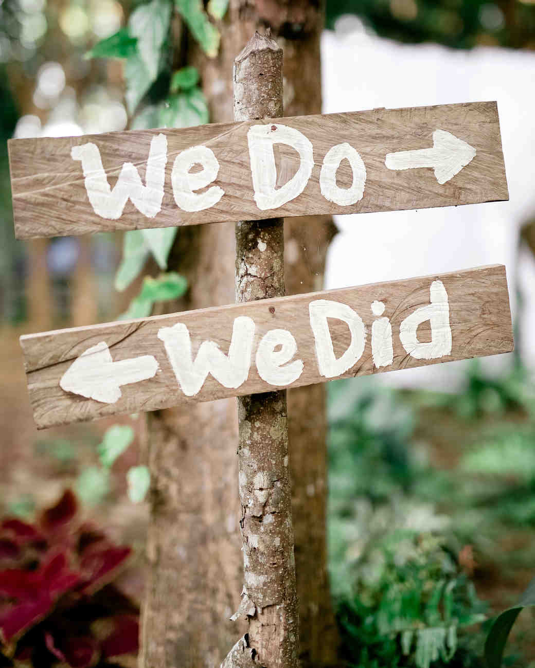 we do we did wooden arrows sign wedding