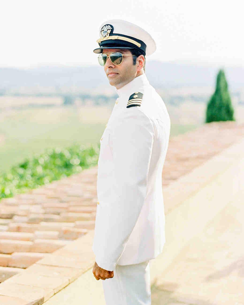 kseniya sadhir wedding groom in navy dress whites