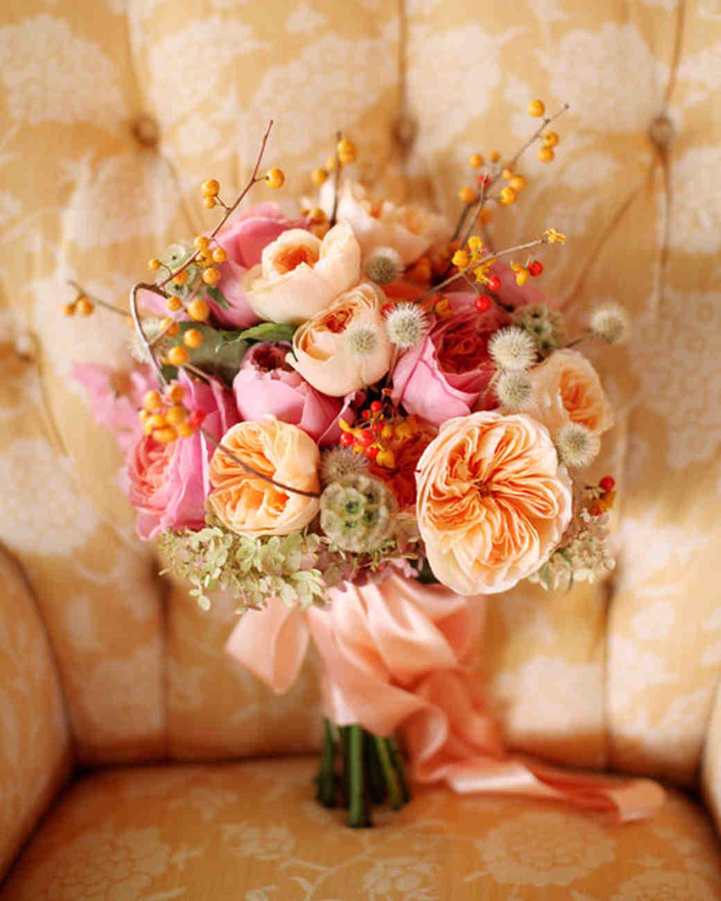 Orange Wedding Bouquets | Martha Stewart Weddings