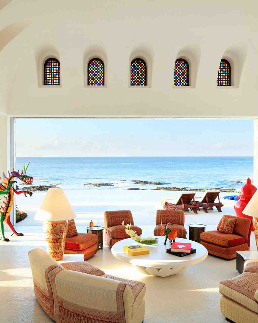 hotel lounge ocean view