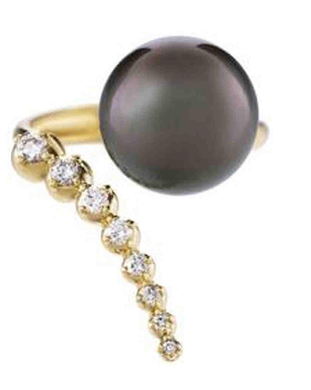 Mizuki Pearl Engagement Ring