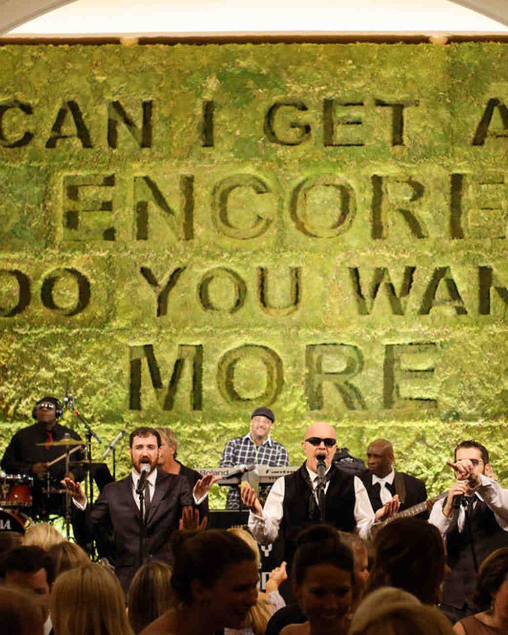 modern wedding typographic band backdrop