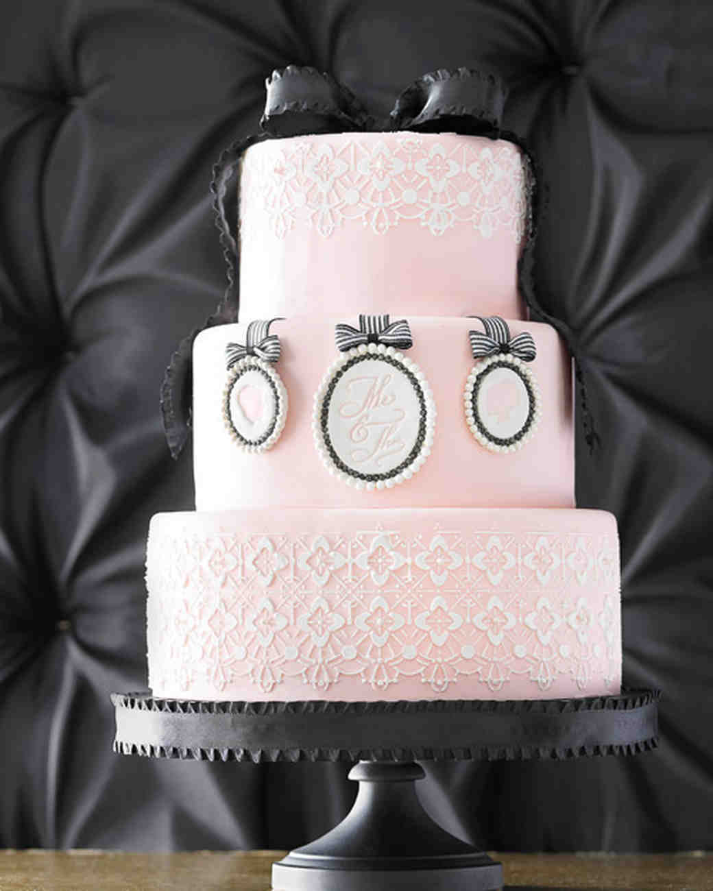 Pink Cameo Wedding Cake